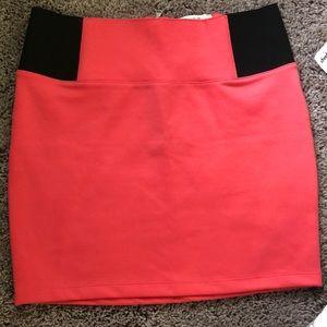 Brand new coral mini skirt